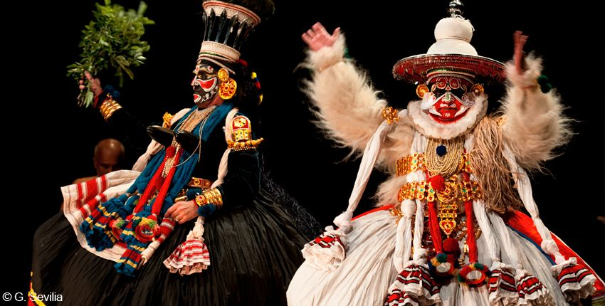 Kathakali / Danse traditionnelle indienne / Le Triangle + 10 ans